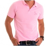 camisa polo rosa masculina Barra do Una