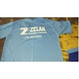 silk screen em camiseta logo de empresa